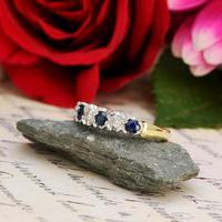 The Vintage 1979 Sapphire & Diamond Half Hoop Ring (2 of 5)