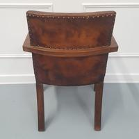 Library Leather Desk Chair c 1930 (4 of 4)