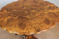 Antique Burr Walnut Shaped Occasional Table (8 of 9)