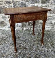 18th Century Georgian Oak Pad Foot Side Table (10 of 15)