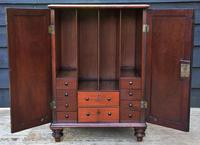 Unusual Georgian Small Proportioned Mahogany Cabinet / Bedside Cupboard with Interior Drawers