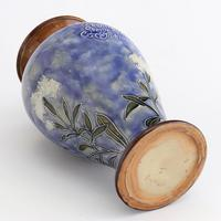 Royal Doulton Stoneware Tubelined Vase with Verse by Bessie Newbery c.1910 (7 of 8)