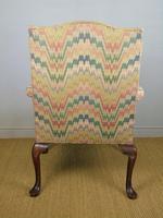 Fine Quality Georgian Style Mahogany Gainsborough Chair c.1920 (4 of 10)
