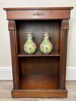 English Small Regency Style Dwarf Recessed Mahogany Open Bookcase (3 of 44)