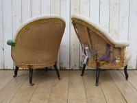Pair of Antique Napoleon III Armchairs for re-upholstery (3 of 9)