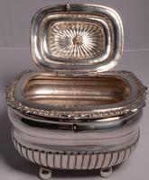 Fine George III Large Silver Tea Caddy by London Silversmiths J. W. Story & W. Elliott, 1811 (7 of 9)