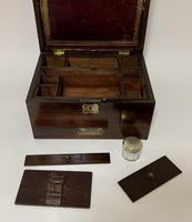 Antique Victorian Rosewood Vanity Jewellery Box (9 of 16)