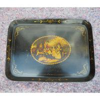 Regency Oblong Lacquered & Painted Tray (6 of 6)