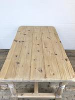 Vintage Antique Pine Farmhouse Kitchen Table (9 of 18)