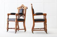 Late 19th Century Pair of Gothic Oak Armchairs (9 of 10)