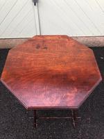 Unusual Walnut & Bamboo Table (5 of 6)