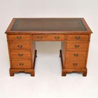 Antique Victorian  Walnut Pedestal Desk (2 of 11)