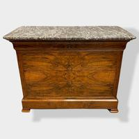 Figured Walnut & Marble Top Commode (9 of 16)