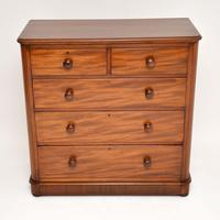 Antique Victorian Mahogany  Chest of Drawers (4 of 8)