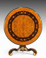 Exceptional 19th Century Marquetry Centre Table Attributed to Edward Holmes Baldock
