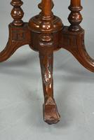 Victorian Burr Walnut Demi Lune Card Table (6 of 6)