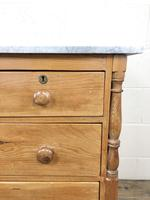 Antique Pine & Marble Chest of Drawers (9 of 15)