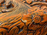Chinese Camphor Wood Carved Birds & Flowers Chest Coffee Table (18 of 34)
