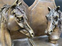 Pair of Bronze Horse Head Bookends (2 of 5)