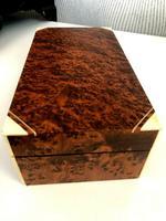 Art Deco Burr Walnut Trinket / Tobacco Box (5 of 7)