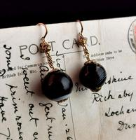 Antique Victorian Agate Drop Earrings, 9ct Gold (7 of 10)