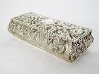 Late Victorian Rectangular Silver Jewellery or Trinket Box (3 of 6)