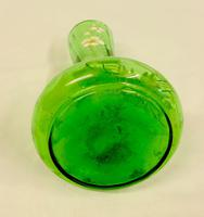 Antique Decorated Green Glass Shaped Vase (5 of 6)