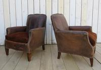 Pair of Antique French Leather Club Chairs (14 of 14)