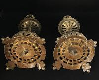 Pair of Victorian Ornate Brass Candlesticks (5 of 5)