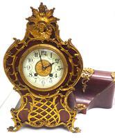 Wow! Phenomenal French Boulle Mantel Clock on Original Bracket 8 Day Mantle Clock (7 of 7)
