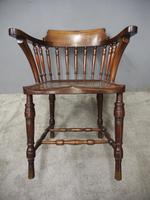 Set of 6 Red Walnut Captain's Chairs by W. Walker & Son (5 of 11)