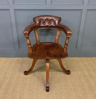 Victorian Revolving Desk Chair by Jas Shoolbred & Co (5 of 10)