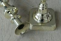 Pair of Victorian Brass Candlesticks 10 Inch Good Condition Polished c.1890 (2 of 6)