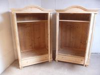 Pair of Antique Pine Cottage / Low Knockdown Wardrobes to wax / paint (10 of 12)