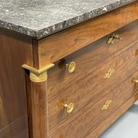 French Empire Commode Chest of Drawers with Marble Top (5 of 7)