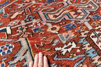 Antique Heriz roomsize carpet 347x246cm (6 of 9)