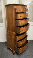 Bow Front Burr Walnut Chest on Chest of Drawers (6 of 13)