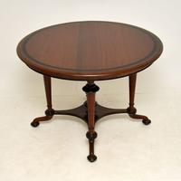 Antique Victorian Walnut Dining Table (2 of 8)