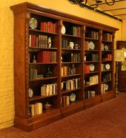 Important Gothic Revival Oak Open Bookcase - 19th Century - France (2 of 11)