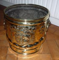 Brass Embossed Pot c.1900 (2 of 2)