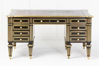 19th Century Ebonised and Brass Inlaid Desk (2 of 11)