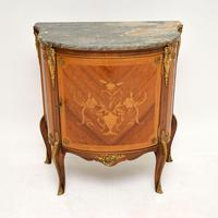 Antique French Inlaid  Marquetry Marble Top Cabinet (2 of 10)