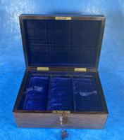 Victorian Rosewood Jewellery Box with Inlay (3 of 14)