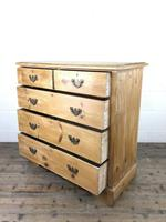 Antique Pine Chest of Drawers (6 of 10)