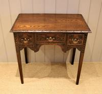 Early 19th Century Carved Oak Lowboy (6 of 11)