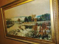 Large Victorian Oil Landscape by C.J.Fox (5 of 5)
