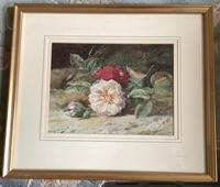 William Jabez Muckley Watercolour 'Rose's on a Bank' (2 of 2)