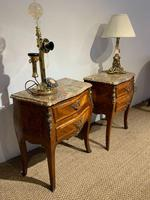 Pair of Marble Topped Bedside Cabinets (5 of 6)