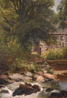 """Oil Painting by Joseph Paul Pettitt """"The Mill at Capel Currig, North Wales"""" (3 of 4)"""