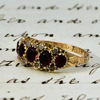 The Antique Victorian 1890 Garnet & Stone Ring (2 of 4)